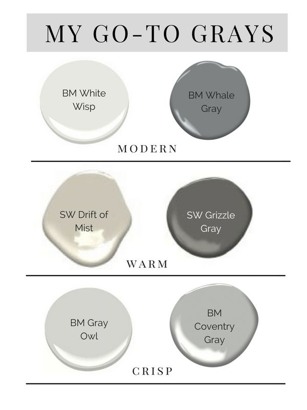 To Make It Easy For You Here Are A Few Of Our Go Gray Paint Colors And How We Use Them