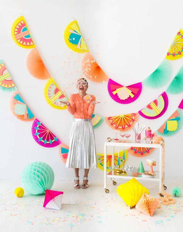 Diy Birthday Wall Decor : Art deco fan garland diy oh happy day lovin