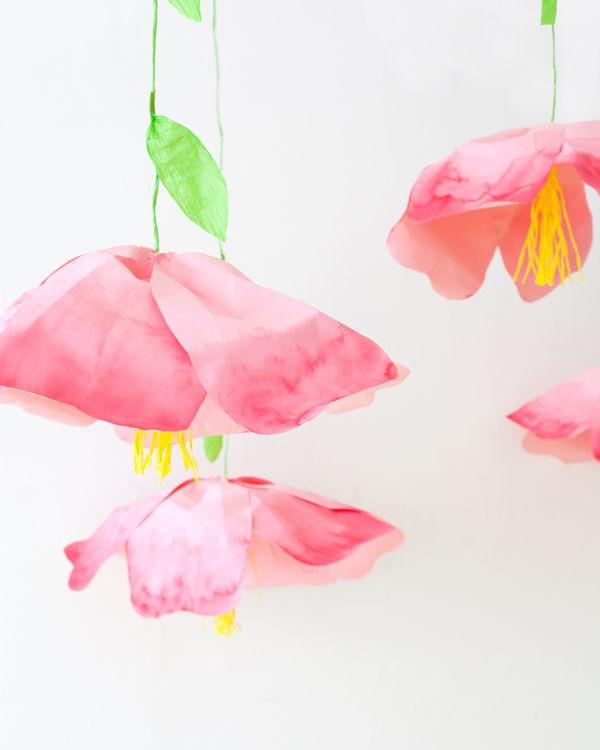 Giant Hanging Paper Flowers Oh Happy Day Bloglovin