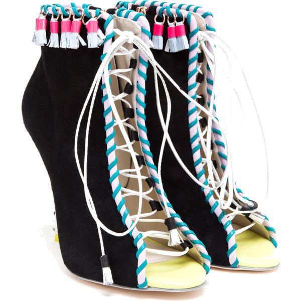 2f0d33b56 Bomb Product of the Day: Sophia Webster's Open Suede Multicolored Boot