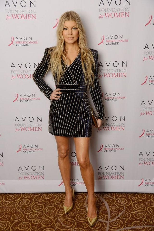 dcc2151e8252 The post Splurge: Fergie's Avon Breastcancer Crusade Balmain Crystal  Embellished Velvet Mini Dress appeared first on The Fashion Bomb Blog :  Celebrity ...