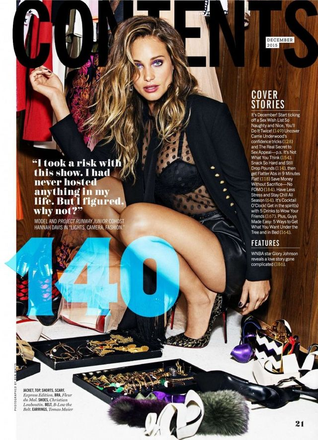 e0a88a1c5f4 The post Snapshot: Hannah Davis for Cosmopolitan December 2015 appeared  first on Fashion Bomb Daily Style Magazine: Celebrity Fashion, Fashion  News, ...