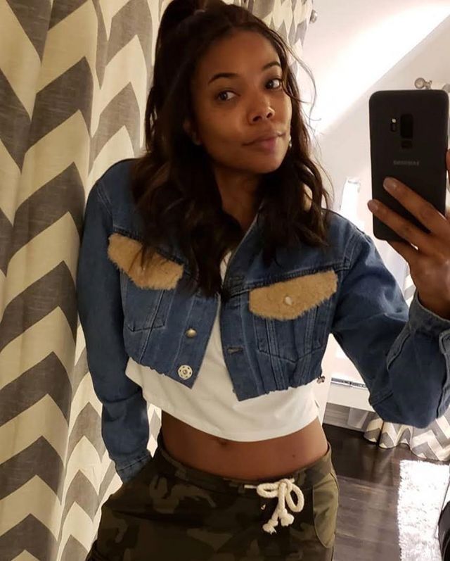f1e53ddfc7b The post Gabrielle Union Smizes for the 'Gram in a Romeo Hunte Lucy Crop  Jacket appeared first on Fashion Bomb Daily Style Magazine: Celebrity  Fashion, ...