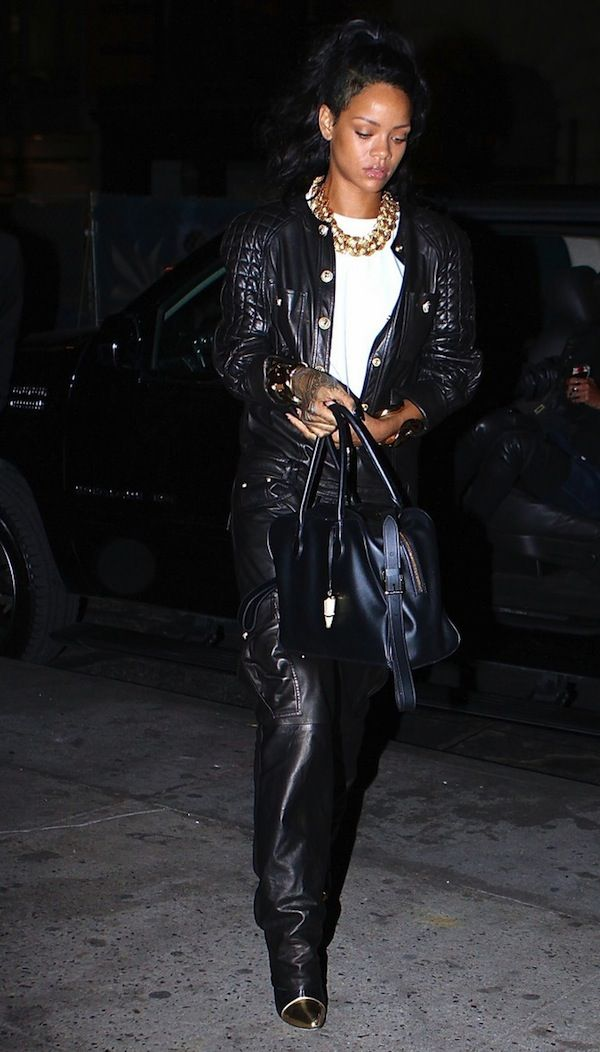 b19de304d1152 First Ciara wore the brand's $11,000 coat to the club; Rihanna was spied  heading to dinner at Nobu in New York last night in their Spring 2014 Black  Quilted ...