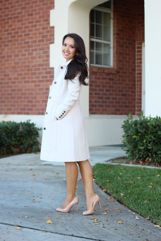 Winter Neutrals: J.Crew Lady Day Coat in Antique Linen and Banana ...