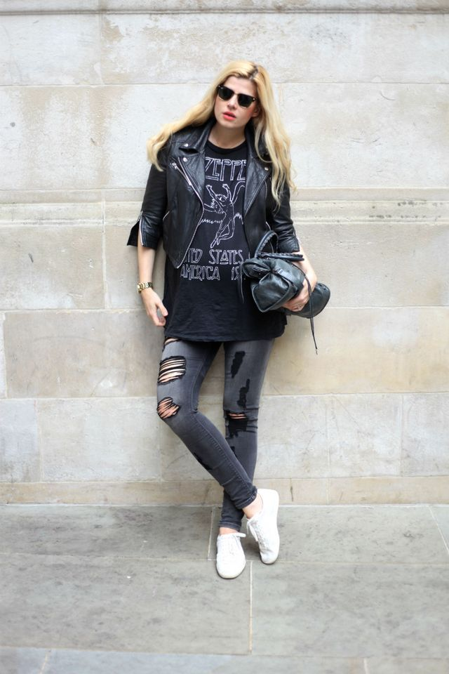 aae5561da29 The post Outfit  Led Zeppelin T-Shirt appeared first on Glamazon blog by  Eva.