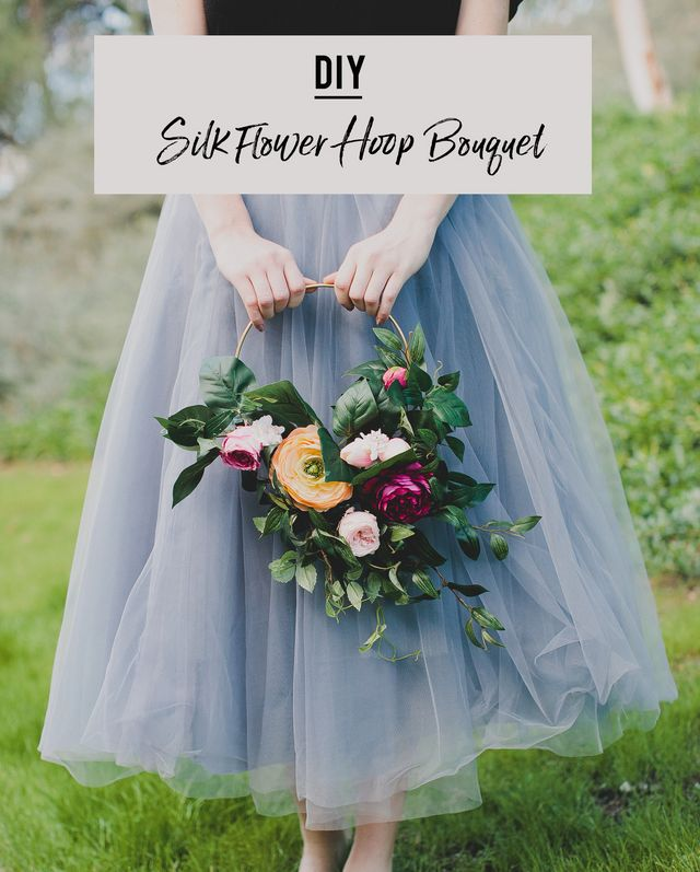 Diy silk flower hoop bouquet green wedding shoes bloglovin with that in mind we paired up with our favorite silk flower company afloral mightylinksfo
