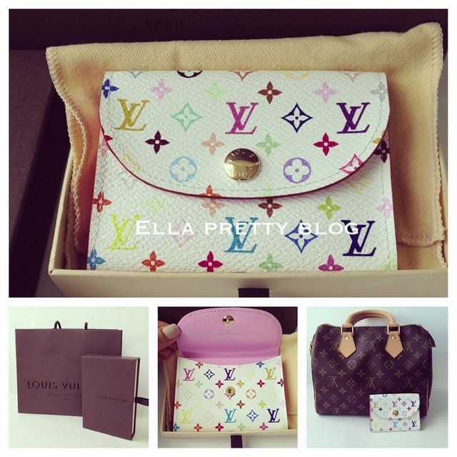 Birthday goodies lv tiffany pandora and recent outfits ella louis vuitton monogram multicolore canvas business card holder i needed a slim card holder to use with my smaller bags for my credit cardshealth cards colourmoves