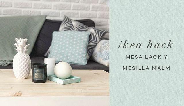 Ikea hack mesilla malm y mesa lack aubrey and me - Mesilla malm ikea ...