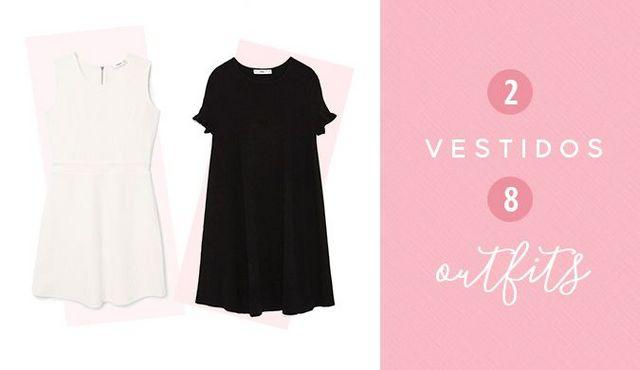 Vestido negro Zara - Vestido blanco Mango ¿Tenéis estos vestidos de fondo  de armario?