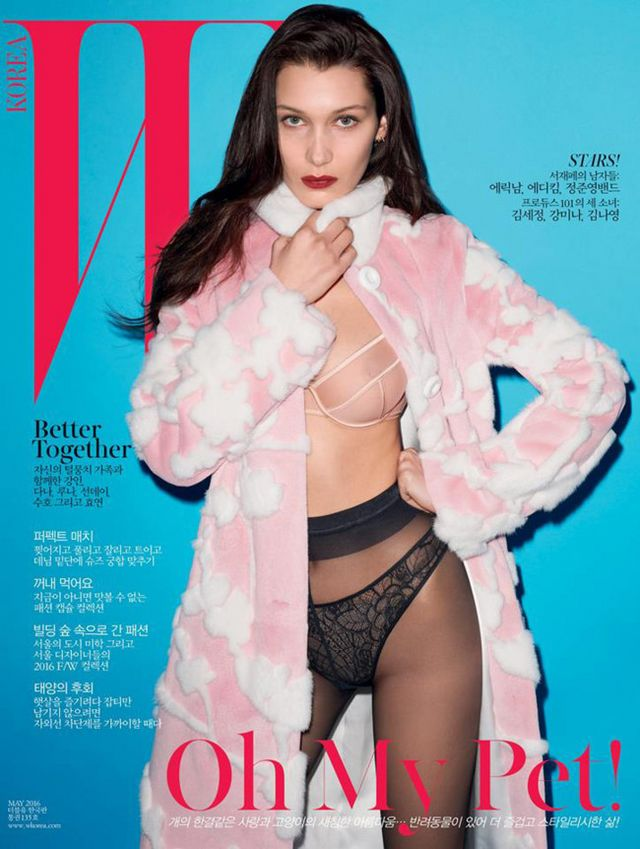 8eeff8ee1ec5 La portada subidita de tono de Bella Hadid x Terry Richardson para W ...