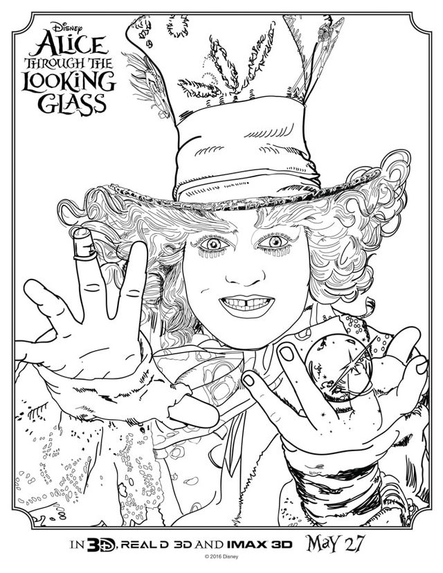 Alice Through The Looking Glass Coloring Sheets Print In Wonderland HERE Free Printables