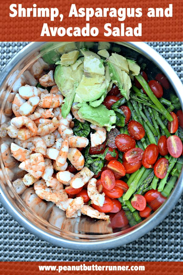 Shrimp, Asparagus and Avocado Salad | Peanut Butter Runner | Bloglovin ...