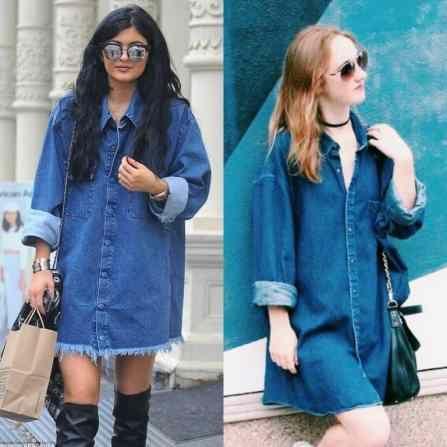 79fd7b152f8 A Kylie Jenner-esque Denim Dress