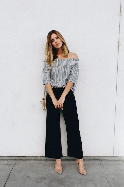 Blogger Approved Cropped Flared And Off The Shoulder Le Fashion Bloglovin