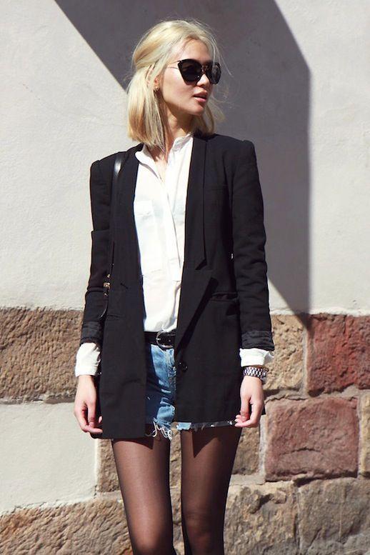 9f58b01479c5 Here s An Edgy Way To Wear Cut-Offs For Fall