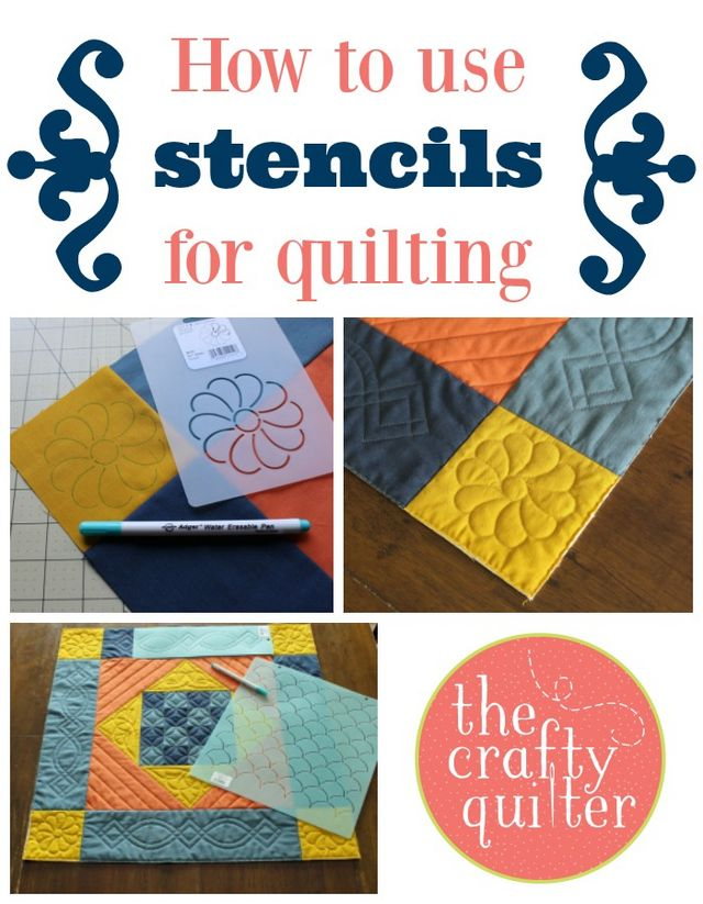 How To Use Stencils In Quilting : How to use stencils for quilting The Crafty Quilter Bloglovin