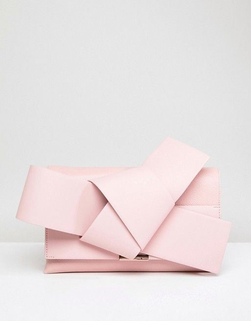 594a3325546172 Giant leather knot bag at Ted Baker £229