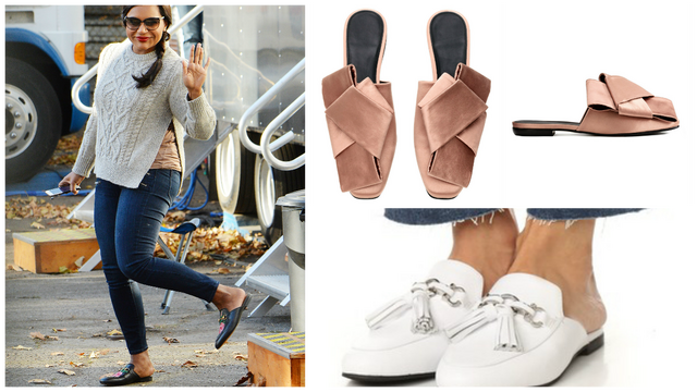 Shop Mindy Kaling's adorable footwear style with these 10 mules