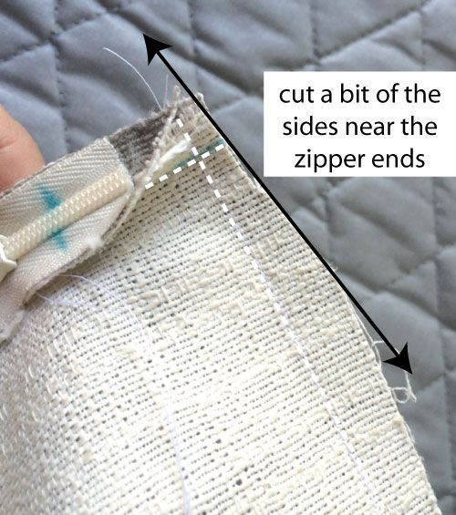 How To Make A Throw Pillow With Invisible Zipper : Make a pillow cover with an invisible zipper (no pins needed!) Stop staring and start sewing ...
