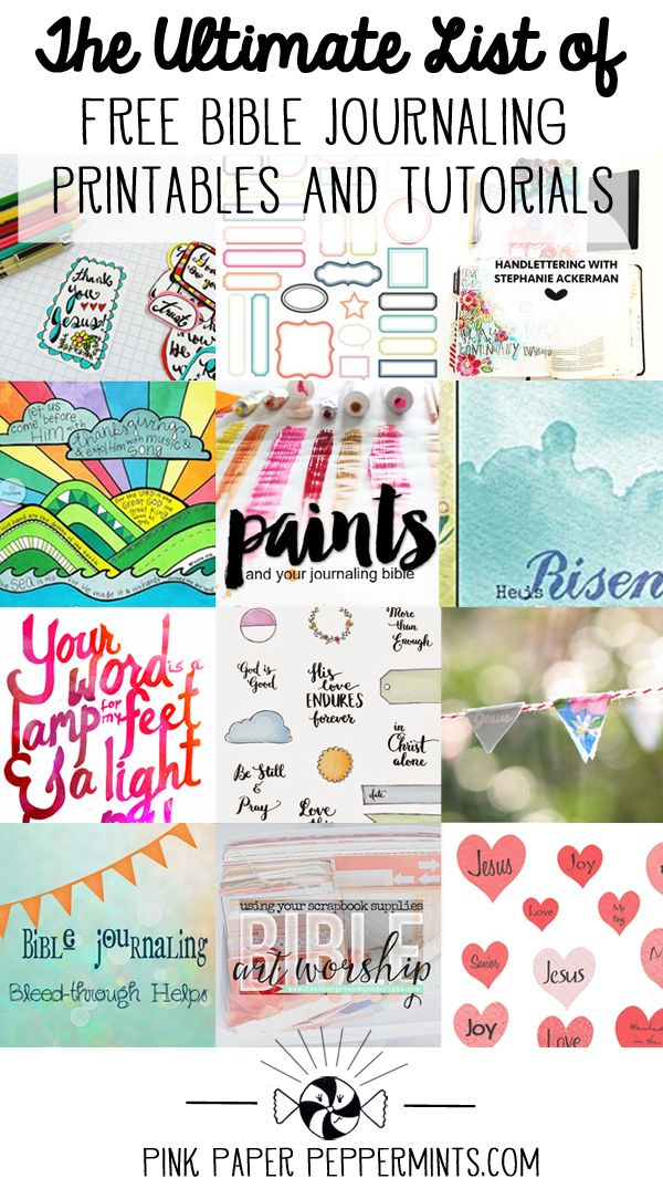 Free Bible Art Journaling Printables and Tutorials - The
