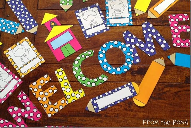 Welcome Charts For Classroom Decoration : Back to school bulletin board and door ideas hoppin