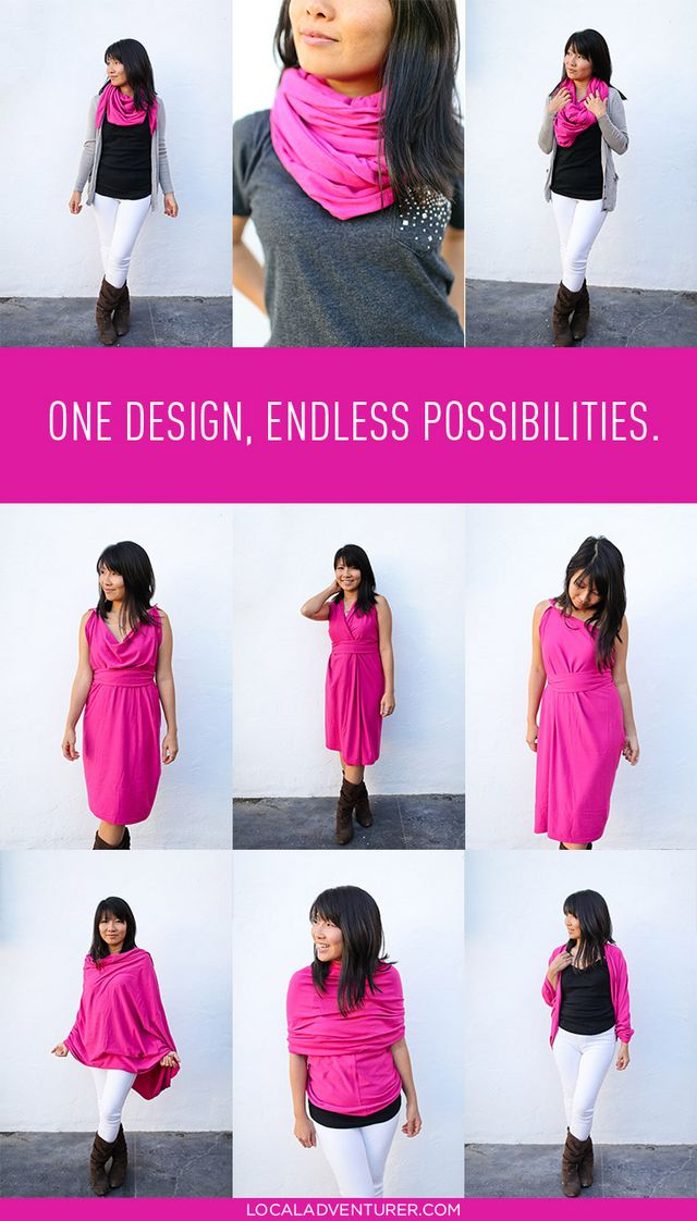 795606599 8+ Ways to Wear the Encircled Chrysalis Cardi ( Travel Cardigan + Dress +  Scarf )
