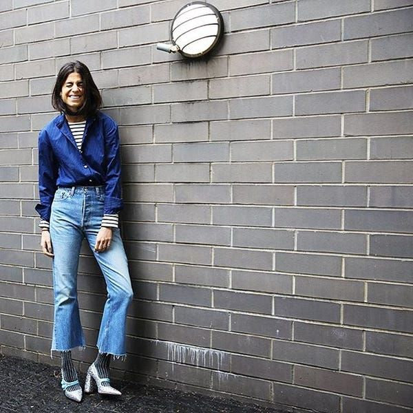 e88d6239bb Break up a Canadian tuxedo by adding an additional pattern or texture (like  stripes and glitter) to the mix.