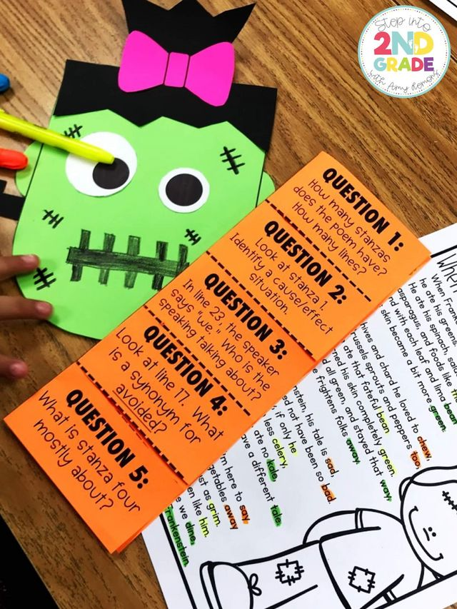Frankenstein Poetry | Step into 2nd Grade with Mrs  Lemons