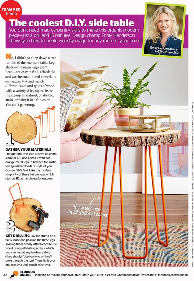 2e6b9be82631e But what would a perfect looking DIY be without some chaotic behind the  scenes  So here s how this column works. Every month we send Redbook 5-7 DIY  ideas.