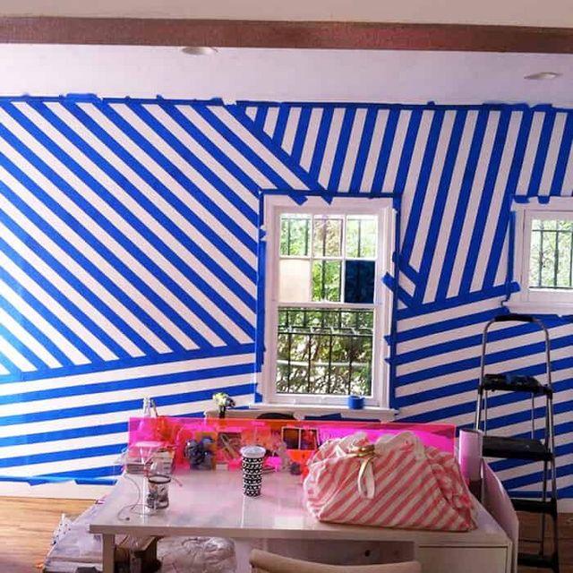 1 Day Diy Striped Walls Emily Henderson Bloglovin