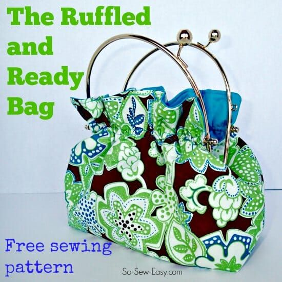 Free Bag Pattern – the Ruffled and Ready Bag   So Sew Easy   Bloglovin\'