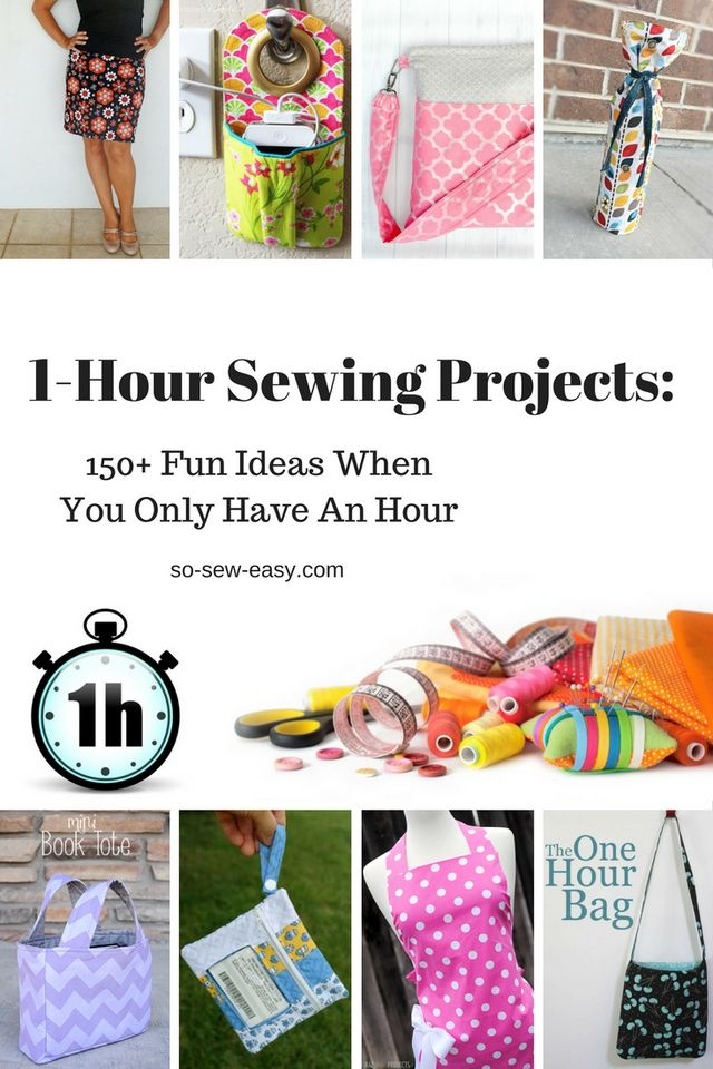 aa6eccc00401 1-Hour Sewing Projects  150+ Fun Ideas When You Only Have An Hour ...