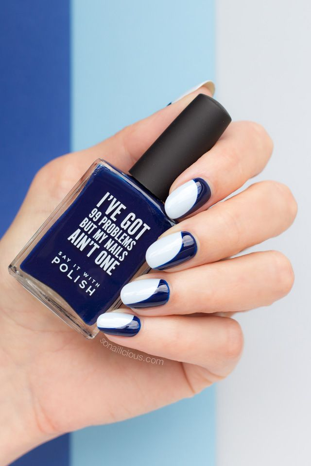 Nails of the Day: Sideways French | SoNailicious | Bloglovin\'