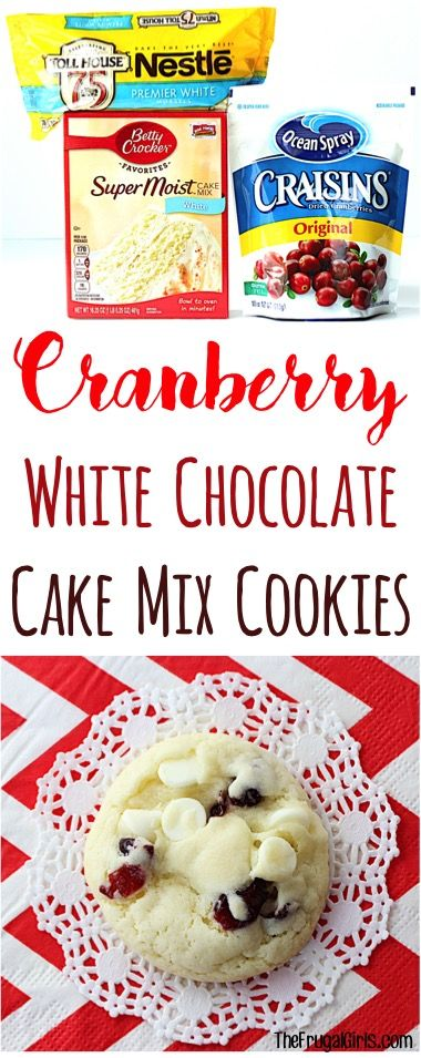 White Chocolate And Cranberry Cake Mix Cookies Recipes