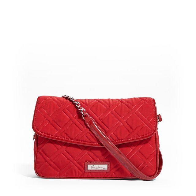 bda585f7a0e Vera Bradley Chain Shoulder Bag in Tango Red with Red Trim