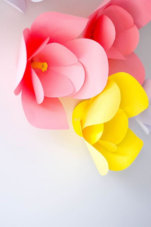 DIY Wall Decor – The Easiest DIY Paper Flowers | 5 Minutes For Mom ...