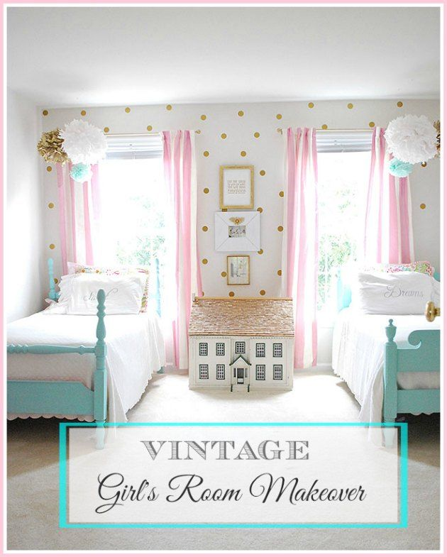 Vintage Bedroom Makeover Ideas: My Daughter's Vintage Bedroom Makeover