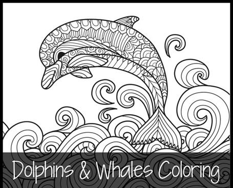 Dolphins and Whales Coloring Pages   1+1+1=1   Bloglovin\'