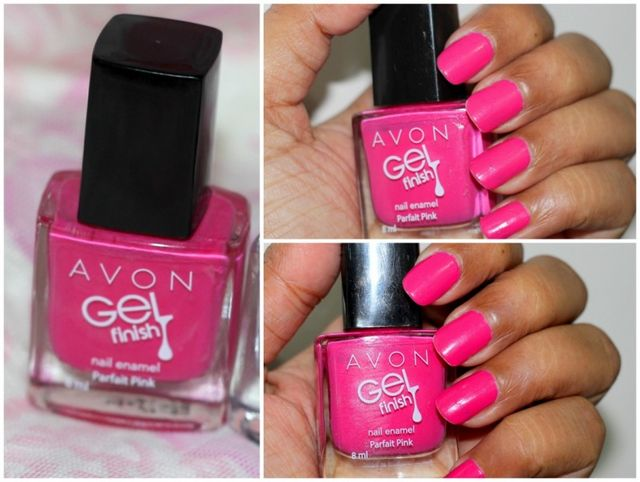 2e8f66d7fe Both shades of Avon Gel Finish Nail Enamel go opaque in 2 coats. Finish  definitely looks like gel. Above are the pictures of Parfait Pink after 3  days of ...