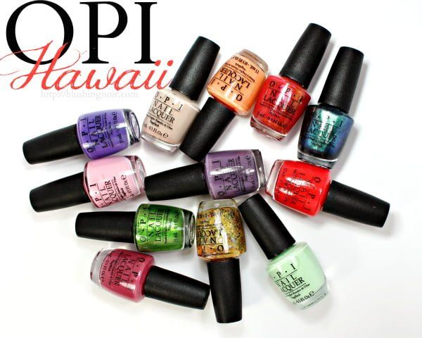 opi hawaii nail polish collection swatches review spring 2015