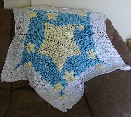 Crochet Inspiration Ripple Star Blankets 27 Patterns And Photos