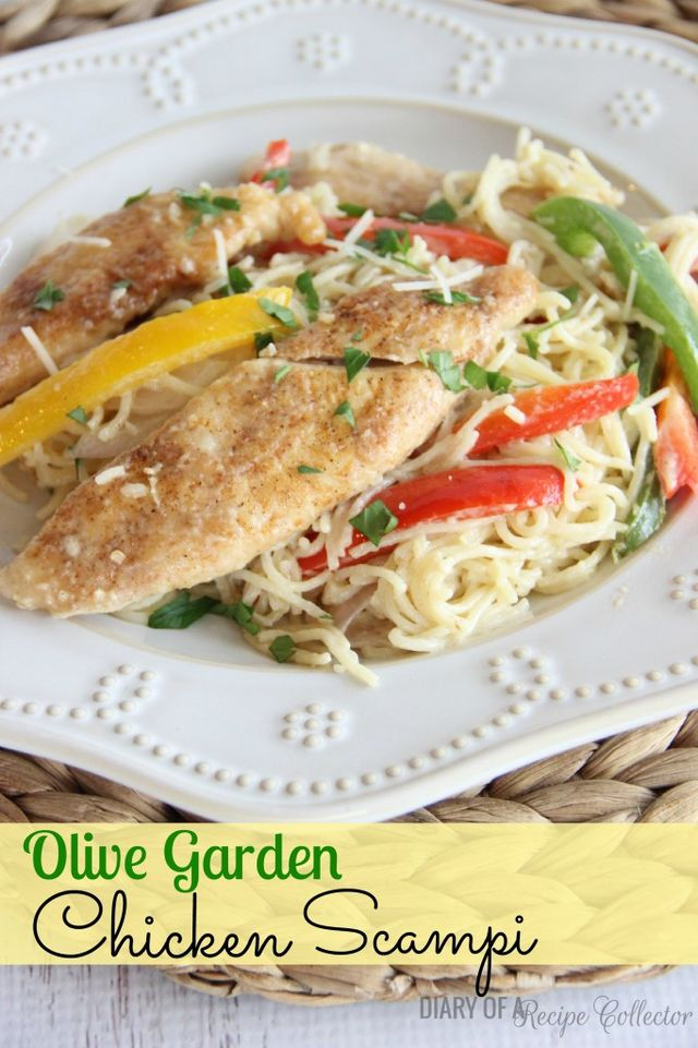 Copycat Olive Garden Chicken Scampi Diary Of A Recipe