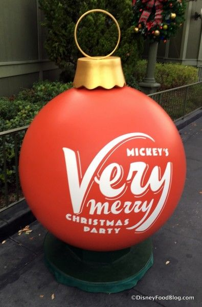 decor at the party - Mickeys Very Merry Christmas Party Reviews