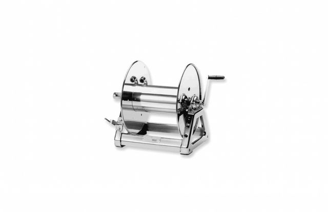 fetching home depot garden hose reel. Above  A Stainless Steel Hose Reel is available in three finishes a standard mill finish nonreflective satin or highly polished that 10 Easy Pieces Crank Reels Gardenista Sourcebook for