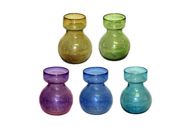 Highlow Colored Glass Bulb Vases Gardenista Sourcebook For