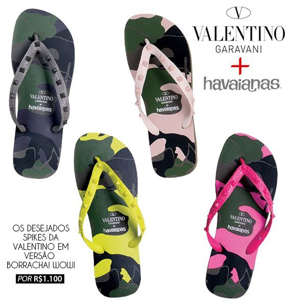 fb66d9fb7ce Chinelo deluxe  Havaianas   Valentino