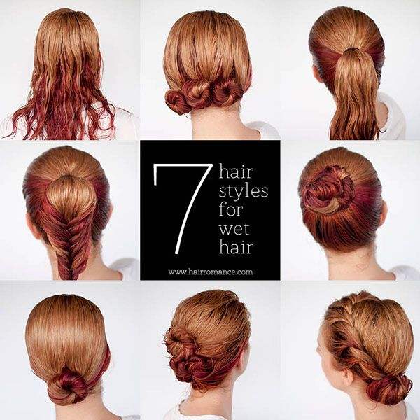 Get ready fast with 7 easy hairstyle tutorials for wet hair | Hair ...