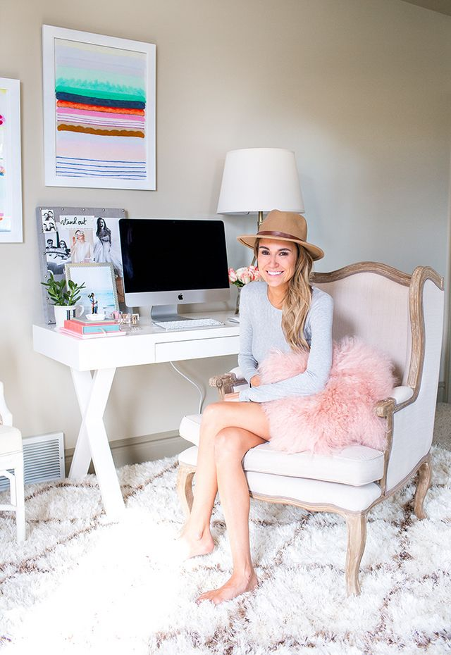 Blush And Gold Office Chair
