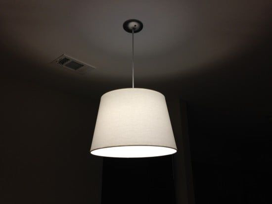 151e8ca13e31 However, I was having trouble finding diffuser lampshades that would fit the  existing lighting fixtures in my rental. So, I decided to make them with the  ...